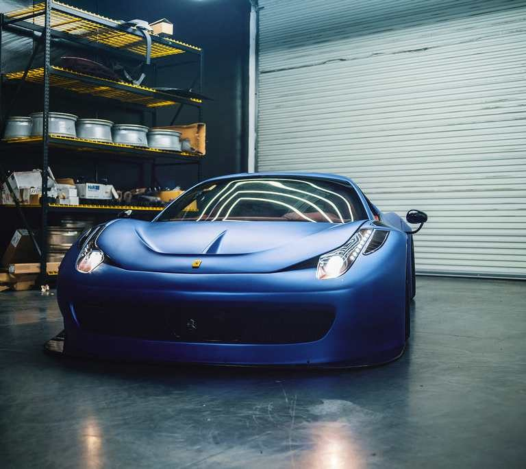 Ferrari 458 KPMF - Metallic Ice Blue Wrap